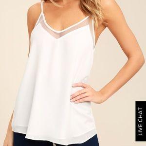 Lulu's White Cami Tank Top Size M